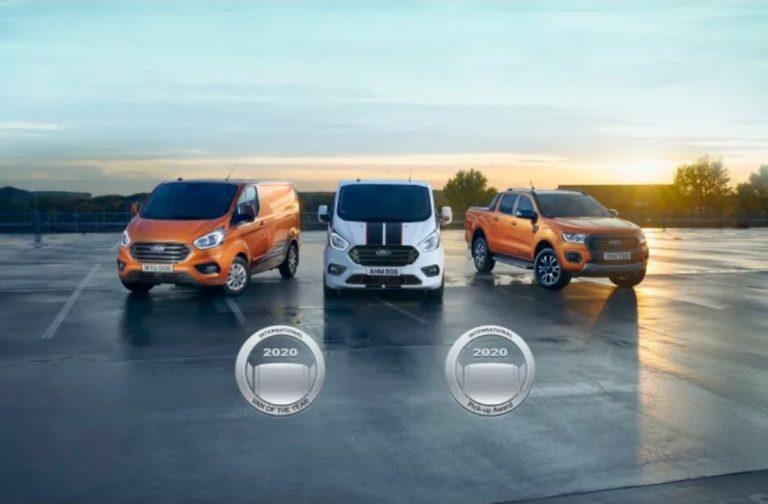 Fordin auto valittiin sekä Vuoden pakettiautoksi että Vuoden avolavaksi