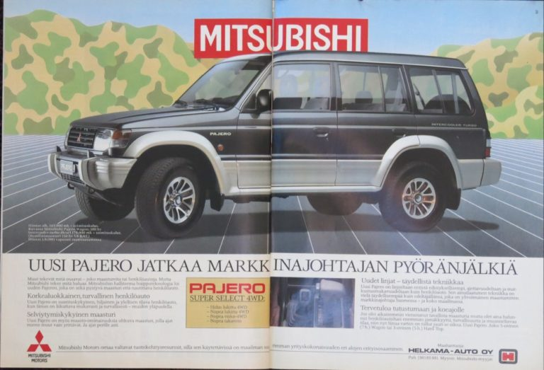 Päivän automainos: Mitsubishi Pajero — Uusi Pajero jatkaa markkinajohtajan pyöränjälkiä