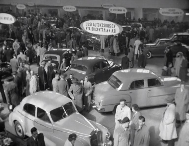Historian havinaa: Mielenkiintoinen lyhytelokuva Helsingin autonäyttelystä 1952