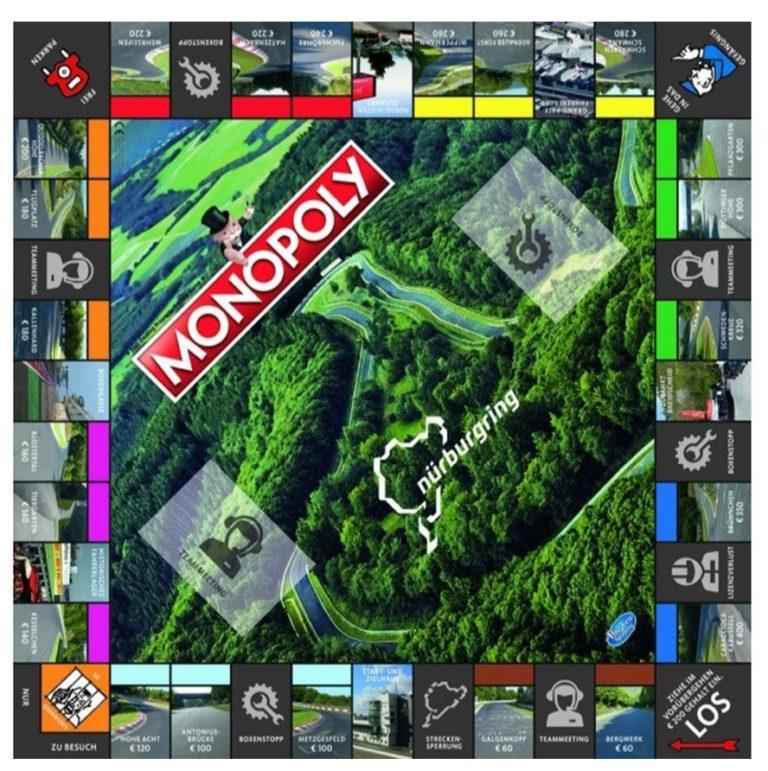 Vielä ehtii tilata jouluksi Nürburgringin erikoisversion Monopoly-pelistä