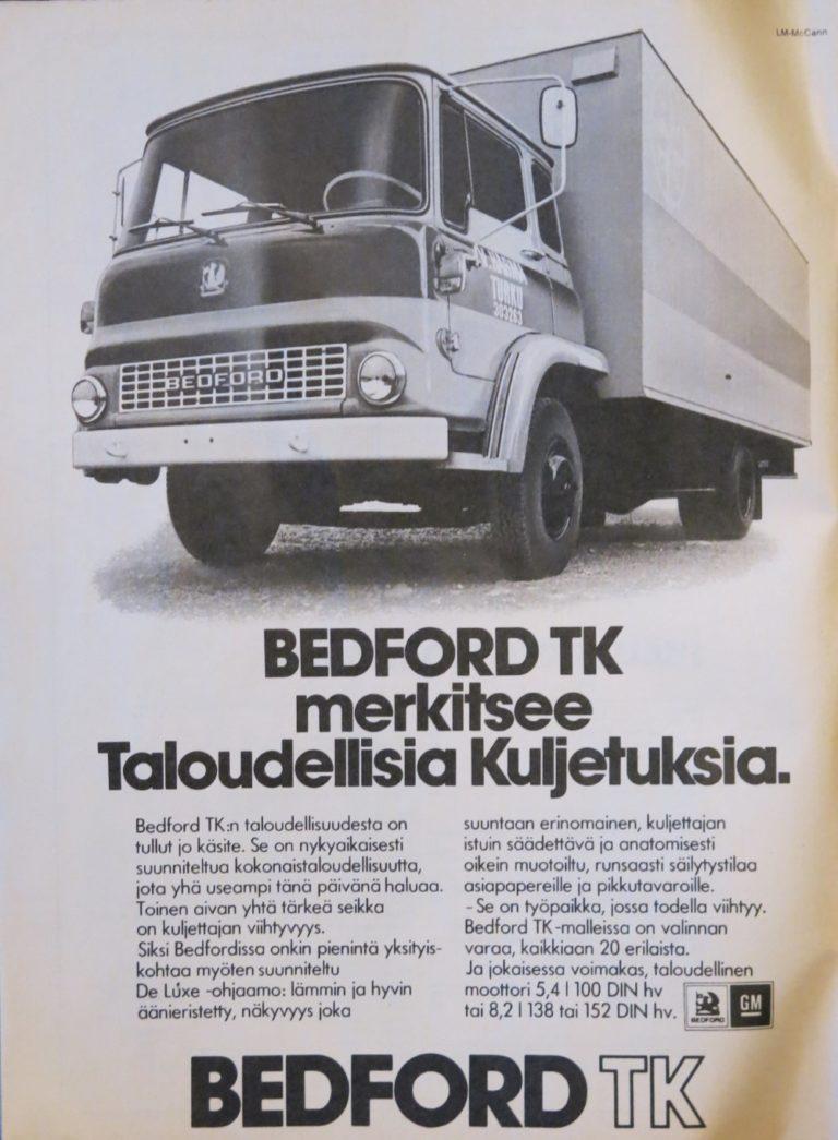 Päivän automainos: Bedford TK 1976