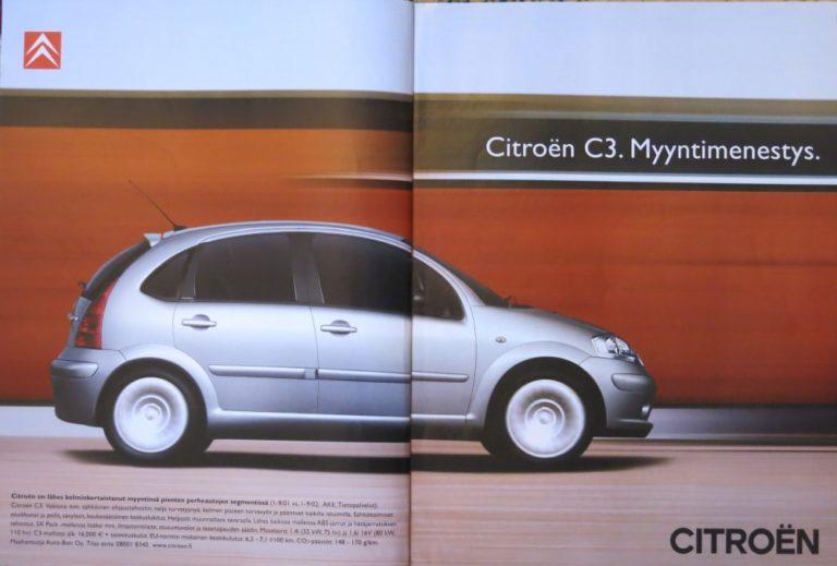 Päivän automainos: Citroën C3. Myyntimenestys.