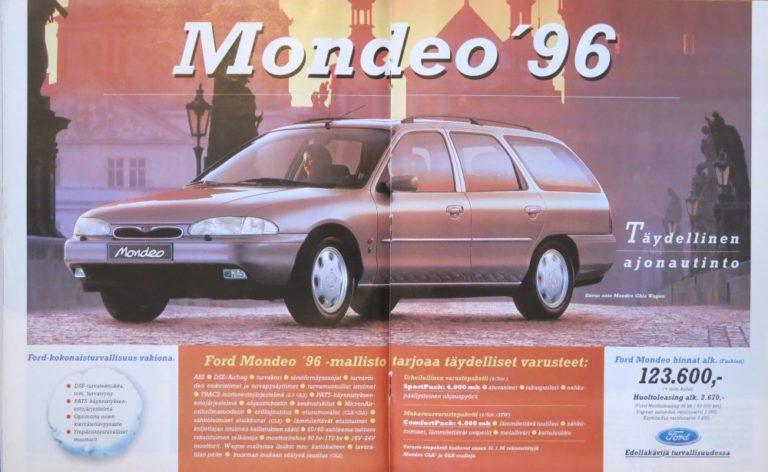Päivän automainos: Mondeo ´96 — täydellinen ajonautinto