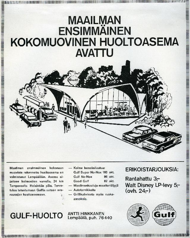 Päivän huoltoasema: Maailman ensimmäinen kokomuovinen huoltoasema!