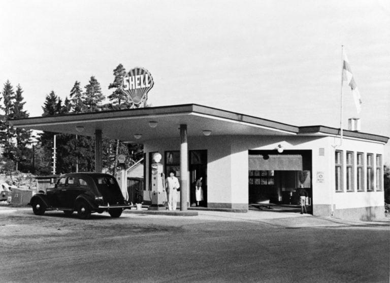 Päivän huoltoasema: Tältä näytti  Käpylän Shell 1930-luvulla