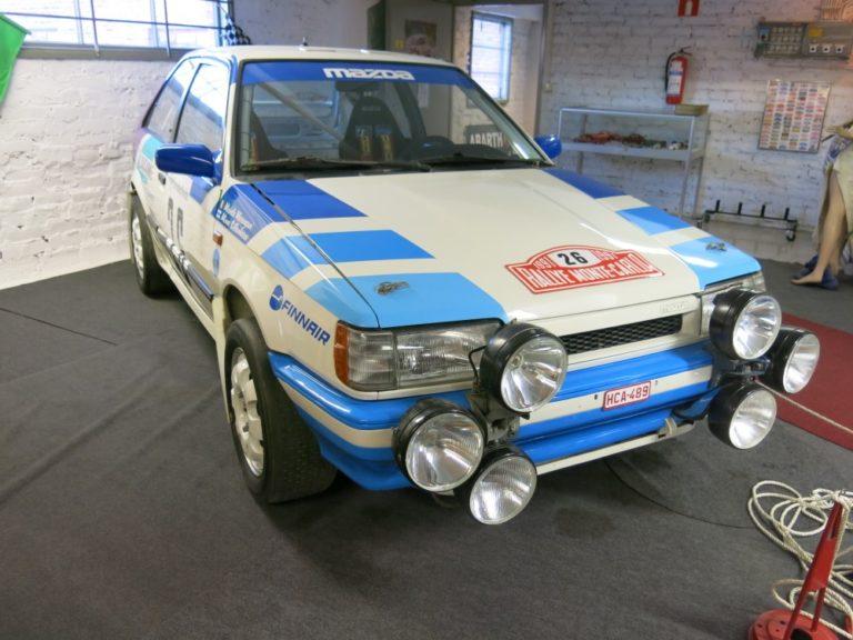Päivän museoauto: Minna Sillankorvan A-ryhmän Mazda 323 4 WD -ralliauto