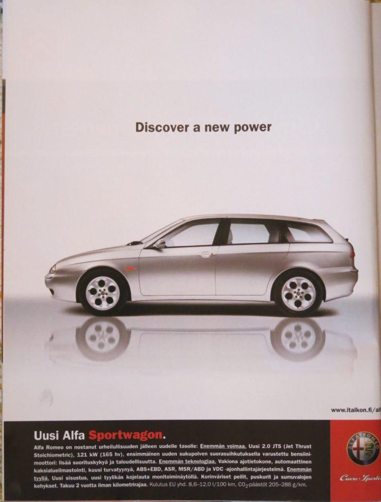 Päivän automainos: Uusi Alfa Sportwagon – Discover a new power