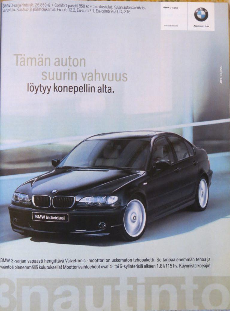 Päivän automainos: BMW 3-sarja — Tämän auton suurin vahvuus löytyy konepellin alta