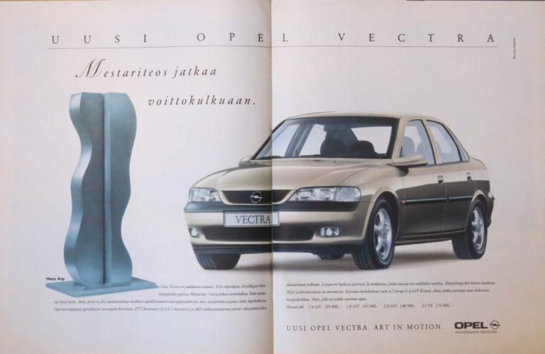 Päivän automainos: Uusi Opel Vectra – Mestariteos jatkaa voittokulkuaan