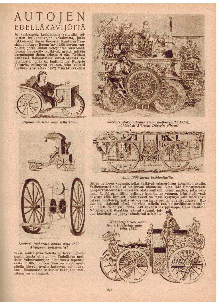 Historian havinaa: Autojen edelläkävijöitä