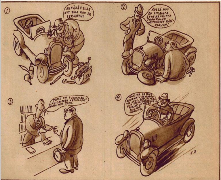 Historian havinaa: On sitä osattu autoja huoltaa jo 100 vuotta sitten!
