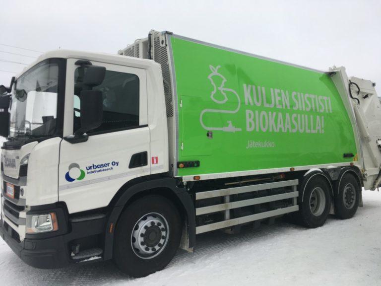 Kuopioon kuusi biokaasukäyttöistä kuorma-autoa jätekeräykseen