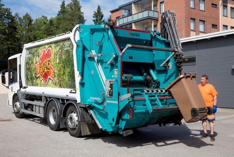 Pääkaupunkiseudun jäteautoista ympäristöystävällisempiä