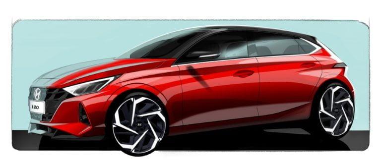 Uusi Hyundai i20 saa urheilullisen ulkonäön — katso ensimmäiset kuvahahmotelmat