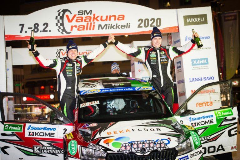 Emil Lindholm ajoi Mikkelin SM-rallin voittoon
