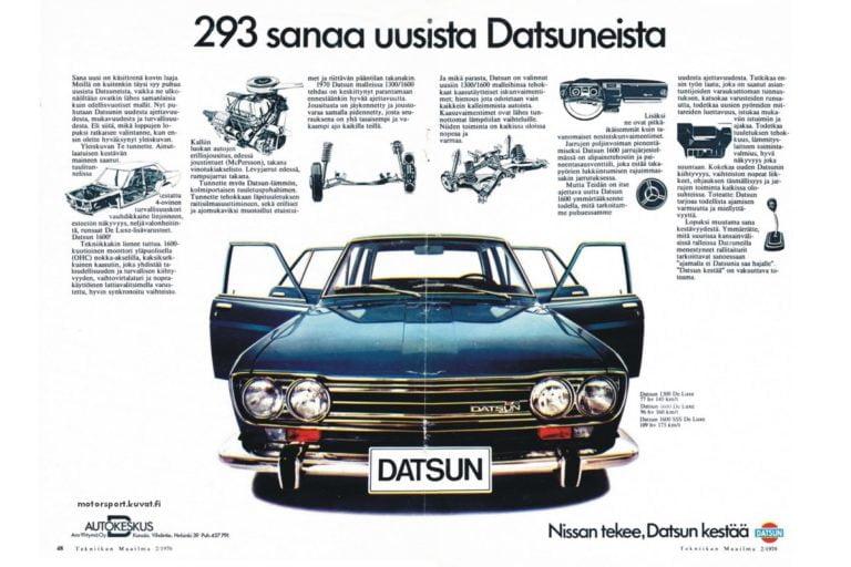 Päivän automainos: 293 sanaa uusista Datsuneista