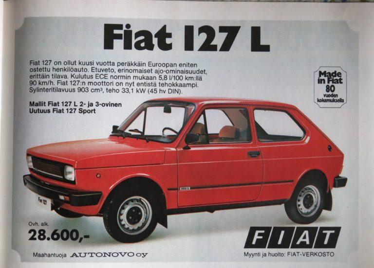 Päivän automainos: Fiat 127 L