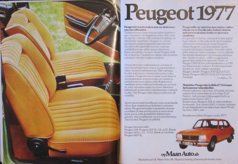 Päivän automainos: Peugeot 1977