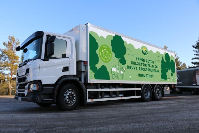 Arlan biokaasukäyttöinen jakeluauto vähentää päästöjä 23 tonnia vuodessa