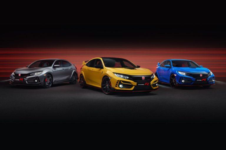 Uuden Civic Type R -perheen muotoilua on hieman muutettu