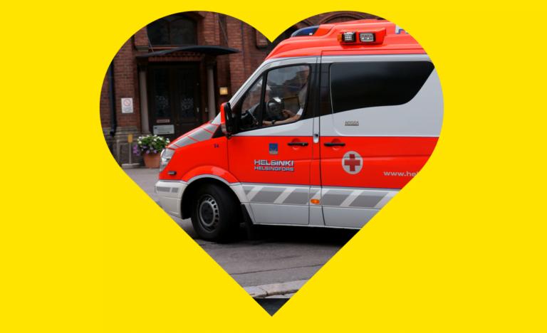 Ambulanssiin saa nyt rengasrikon sattuessa uuden renkaan ilmaiseksi asennuksineen