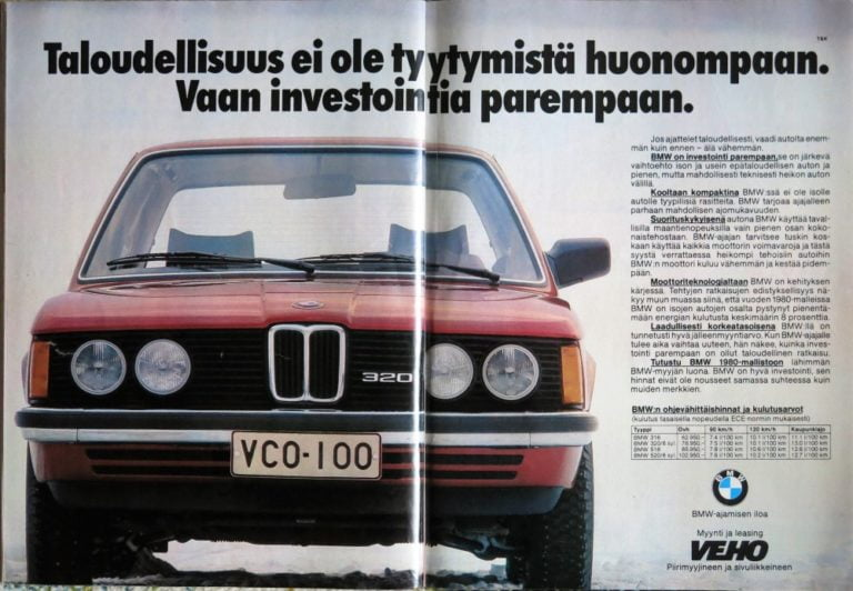 """Päivän automainos: """"Taloudellisuus ei ole tyytymistä huonompaan. Vaan investointia parempaan"""""""