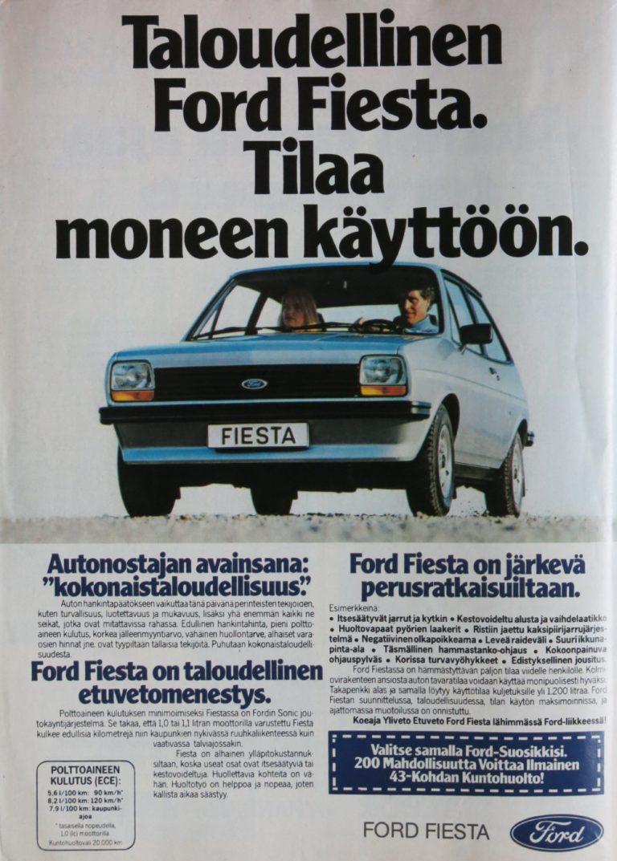 Päivän automainos: Taloudellinen Ford Fiesta. Tilaa moneen käyttöön.