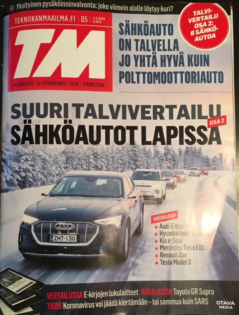 Tekniikan Maailman talvisähköautovertailun voittaja maksaa yli 121 000 euroa