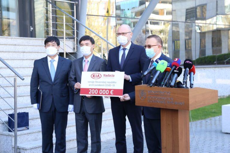 Kia lahjoitti Slovakiassa 375 000 euroa koronaviruksen torjuntaan