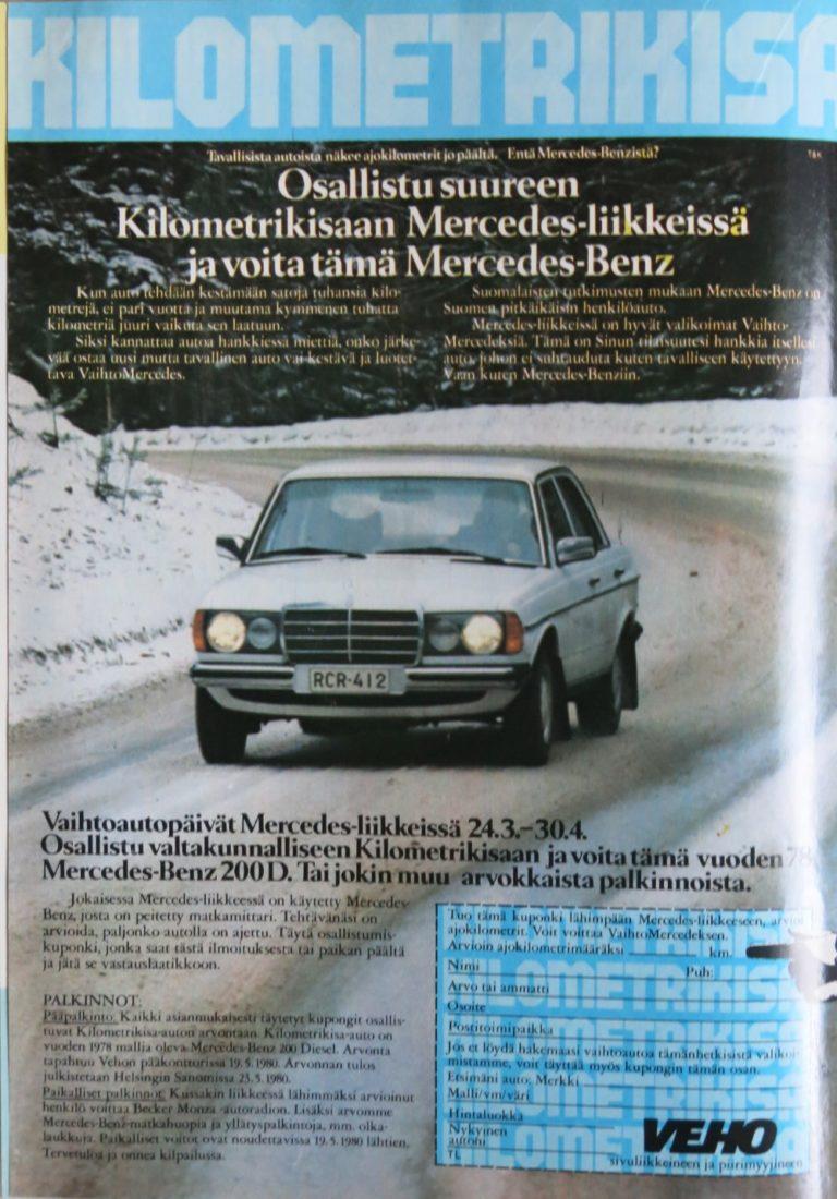 Päivän automainos: Mercedes-Benzin Kilometrikisa
