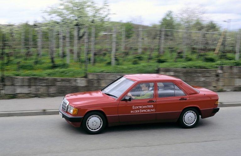 Päivän museoauto: Täyssähköinen Mercedes-Benz 190 E Elektro vuodelta 1990 — mukana myös video!
