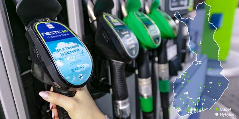 Nesteen uusiutuvan dieselin saatavuus paranee