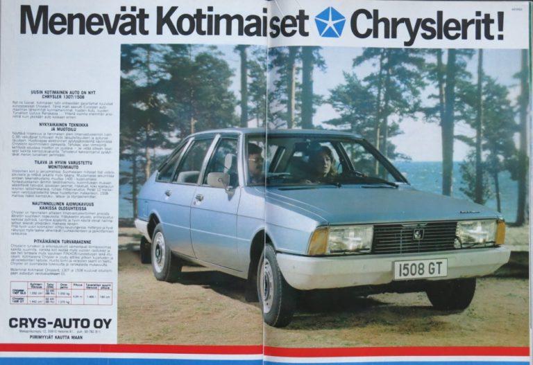 Päivän automainos: Menevät Kotimaiset Chryslerit