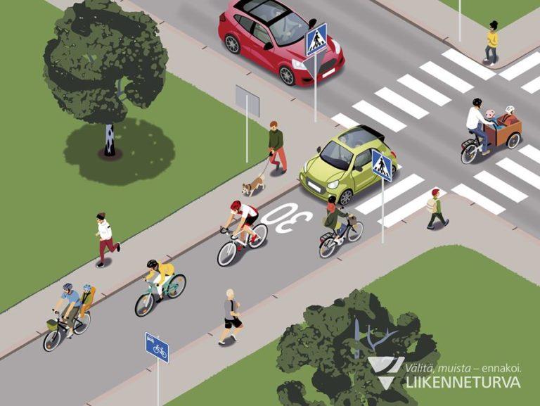 Tiedätkö, miten kävely-, piha- ja pyöräkadut eroavat toisistaan?