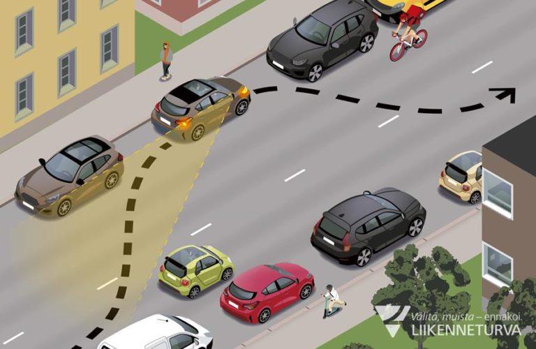 Pysäköinti vasemmalle puolelle vaatii huolellisuutta