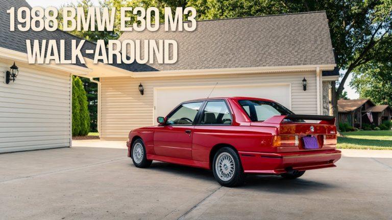 Huima hinta: Vuoden 1988 BMW E30 M3 myytiin 250 000 dollarilla