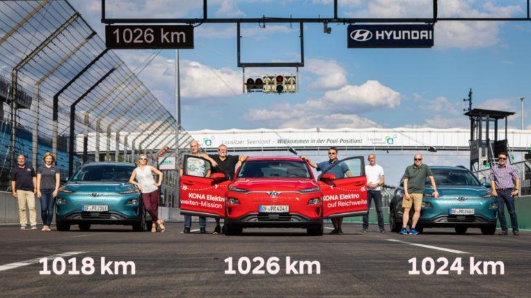 Hyundai Kona Electricillä ajettiin uusi ennätys