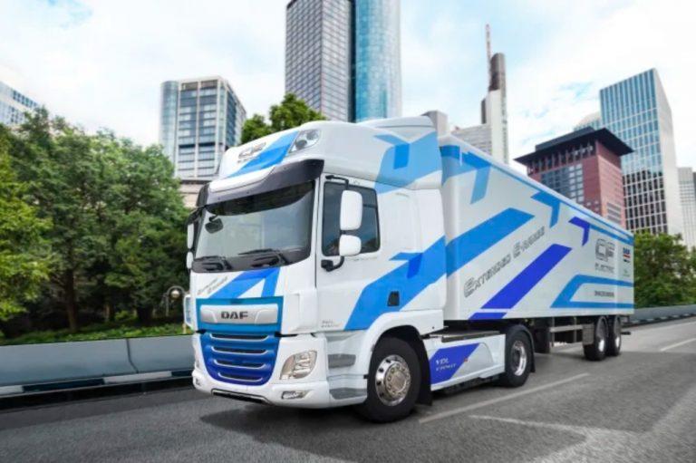 Sähköisen DAF-kuorma-auton toimintamatka kaksinkertaistui
