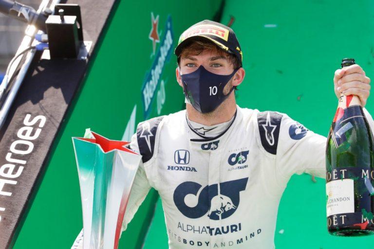 F1: Pierre Gasly ajoi Monzan erikoisen kisan voittoon