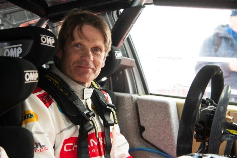 Marcus Grönholm ajaa Belgiassa rallicrosskisan sähköautolla