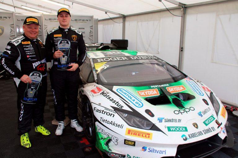 Lamborghini-sarja: Elias Niskanen ja Mikko Eskelinen hopealle Barcelonassa