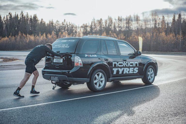 Suomessa tehty uusi autontyönnön maailmanennätys