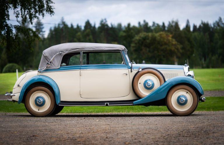 Päivän museoauto: Vaiherikkaan historian läpikäynyt Mercedes-Benz 230 Cabriolet b 1937