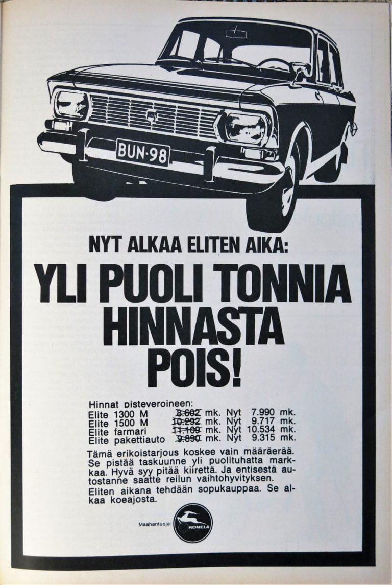 Päivän automainos: Nyt alkaa Eliten aika: Yli puoli tonnia hinnasta pois!