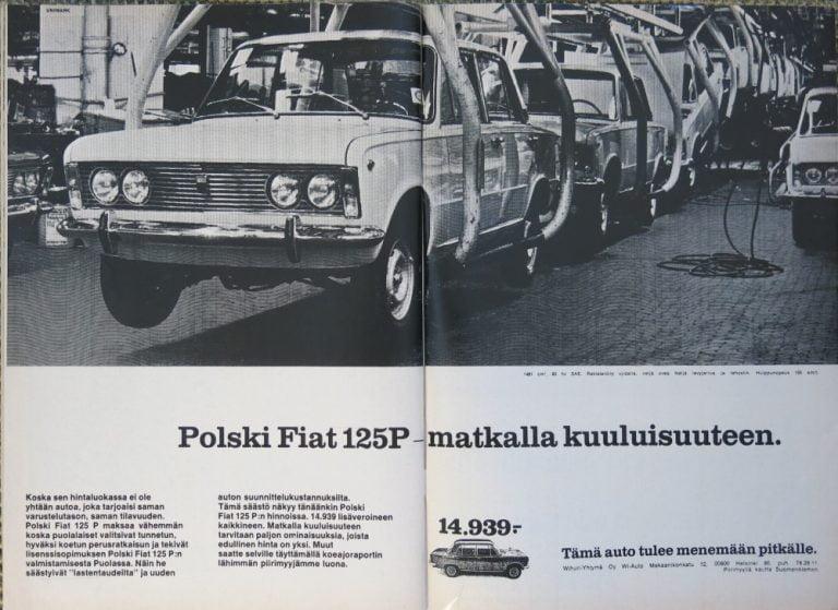 Päivän automainos: Polski Fiat 125P — matkalla kuuluisuuteen
