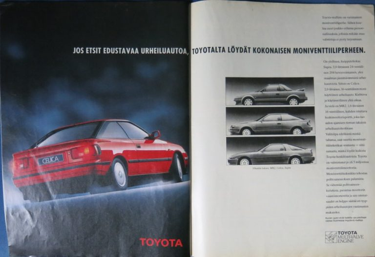 Päivän automainos: Jos etsit edustavaa urheiluautoa, Toyotalta löydät kokonaisen moniventtiiliperheen