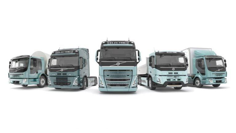 Ensi vuonna Volvo Trucksilta kattava sähkökuorma-autojen mallisto Eurooppaan