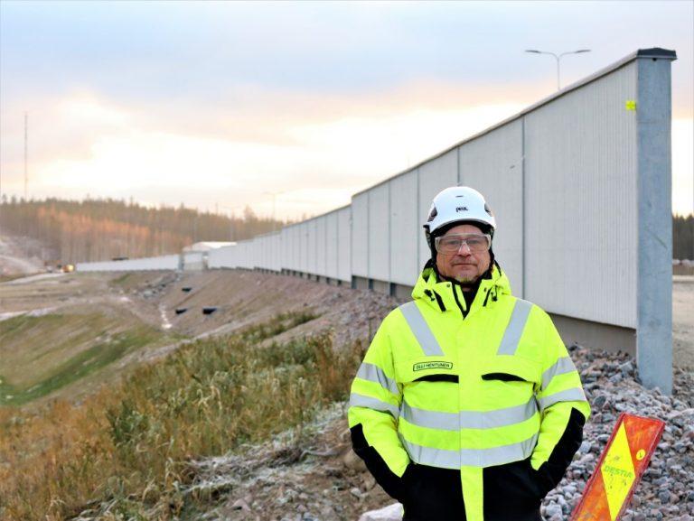 Kotimainen puuinnovaatio tuo uudenlaisen meluseinän Jyväskylä-Tikkakoski-moottoritien varteen