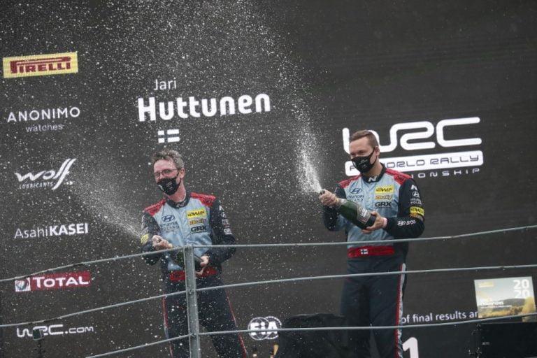WRC: Jari Huttunen ja Mikko Lukka ajoivat rallin WRC3-luokan maailmanmestareiksi