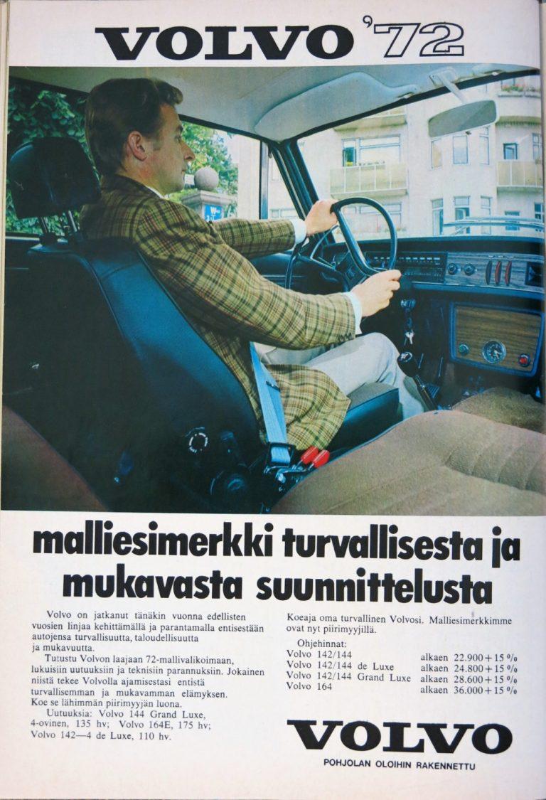 Päivän automainos: Volvo '72 – malliesimerkki turvallisesta ja mukavasta suunnittelusta